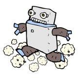 comic cartoon running robot Royalty Free Stock Photos