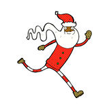 Comic cartoon running santa Royalty Free Stock Photos
