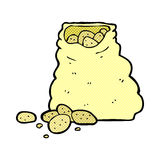 comic cartoon sack of potatoes Stock Photography