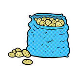 comic cartoon sack of potatoes Royalty Free Stock Photos