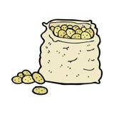 comic cartoon sack of potatoes Stock Images