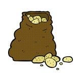 comic cartoon sack of potatoes Stock Image