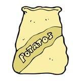 Comic cartoon sack of potatos Stock Photography