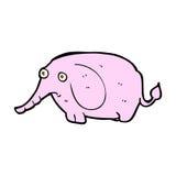 Comic cartoon sad little elephant Royalty Free Stock Photos