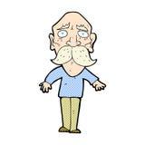 comic cartoon sad old man Royalty Free Stock Photography