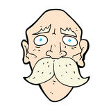 Comic cartoon sad old man. Retro comic book style cartoon sad old man Stock Photo