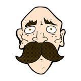 comic cartoon sad old man Stock Photos