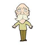 comic cartoon sad old man Royalty Free Stock Images