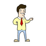 comic cartoon salesman Royalty Free Stock Photos