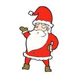 Comic cartoon santa claus. Retro comic book style cartoon santa claus royalty free illustration