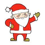 Comic cartoon santa claus Stock Photos
