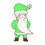 Comic cartoon santa claus Royalty Free Stock Photo