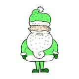 Comic cartoon santa claus Royalty Free Stock Photos