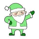 Comic cartoon santa claus Stock Images