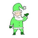 Comic cartoon santa claus Royalty Free Stock Image