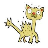 comic cartoon scared cat Stock Photo