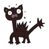 comic cartoon scared cat Royalty Free Stock Photography