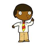 comic cartoon school boy Royalty Free Stock Photography