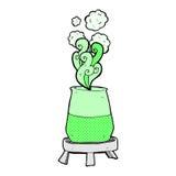comic cartoon science experiment Stock Image
