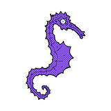 comic cartoon sea horse Royalty Free Stock Image