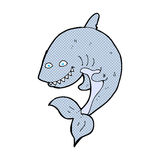 comic cartoon shark Stock Photo