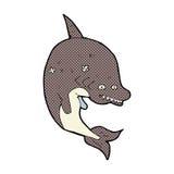 comic cartoon shark Stock Image