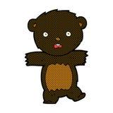 comic cartoon shocked black bear cub Royalty Free Stock Photography