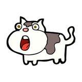 comic cartoon shocked cat Royalty Free Stock Photography