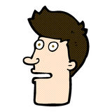 comic cartoon shocked male face Stock Image
