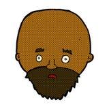 Comic cartoon shocked man with beard Stock Photography