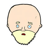 Comic cartoon shocked man with beard Stock Images