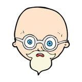 Comic cartoon shocked man with beard Stock Photo