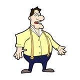 Comic cartoon shocked man Stock Photos