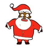 Comic cartoon shocked santa claus Royalty Free Stock Photography