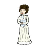 comic cartoon shocked victorian woman Stock Images