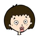 Comic cartoon shocked woman Stock Image