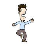 Comic cartoon shrieking man Royalty Free Stock Images