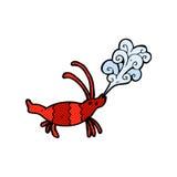 Comic cartoon shrimp Royalty Free Stock Photos