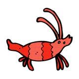 Comic cartoon shrimp Royalty Free Stock Photo