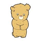 comic cartoon shy teddy bear Royalty Free Stock Photos