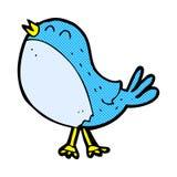 Comic cartoon singing bird Royalty Free Stock Images