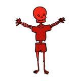 Comic cartoon skeleton in clothes Stock Photos