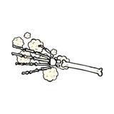 Comic cartoon skeleton hand Royalty Free Stock Image