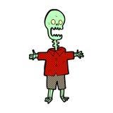 Comic cartoon skeleton Royalty Free Stock Photography