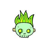 Comic cartoon skull mask Stock Photography