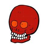 Comic cartoon skull Royalty Free Stock Photo