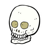 comic cartoon skull Royalty Free Stock Image