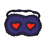 comic cartoon sleeping mask with love hearts Royalty Free Stock Photography