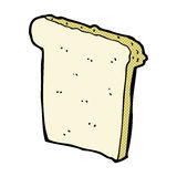 Comic cartoon slice of bread. Retro comic book style cartoon slice of bread Royalty Free Stock Photo
