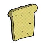 Comic cartoon slice of bread. Retro comic book style cartoon slice of bread Stock Image